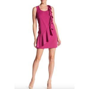Coming Donna Morgan Ruffle Crepe Shift sexy Dress